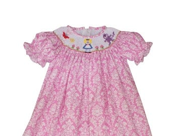 Smocked Alice in Wonderland Dress