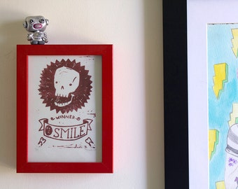 Number One Smile Award – Linocut Print