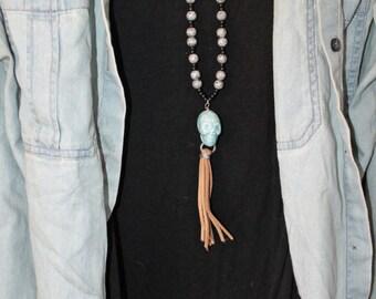 Skull Tassel Necklace