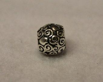 Pandora Silver Swirl Dots