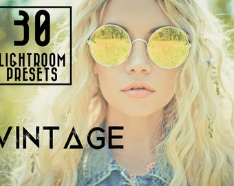 30 Vintage Lightroom Presets Professional Photo Editing for Portraits, Newborns, Weddings By LouMarksPhoto