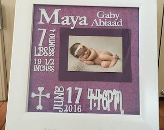 Baby Birth Stats Picture Frame