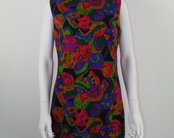 Short dress style psychedelic