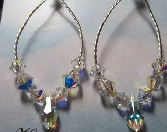 Swarovski Crystals and Twisted Wire
