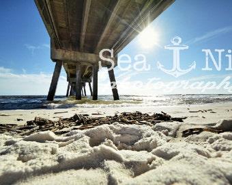 Beach Pier, Florida Art Print