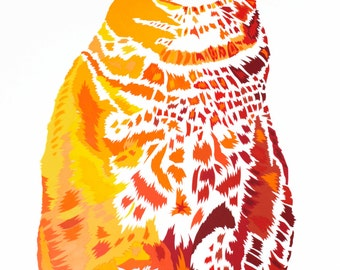 Marmalade cat limited edition signed giclee fine art print