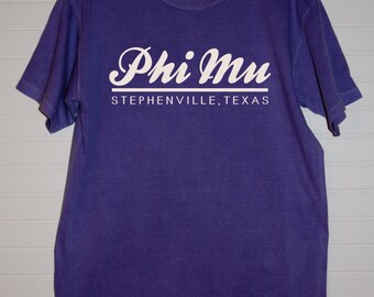 Phi Mu 118 City Shirt Comfort Color TShirt, Short Sleeve or Long Sleeve