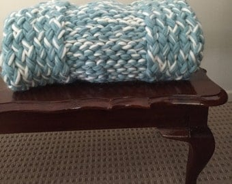 Chunky Knit Throw/Lap Blanket