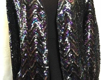 Vintage three flaggs sequined evening jacket