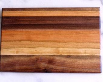 Walnut and Cherry Cutting Board - Wood (Free Shipping)
