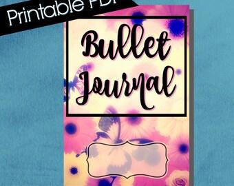 Bullet Journal Cover, composition notebook cover, printable, notebook cover, bullet journal accessories, butterflies, daisies, tween gifts