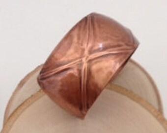 Folded Copper Cuff Bracelet