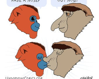Underdone Comics: Monkey Kiss Print