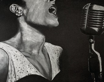 Lady Sings The Blues - Billie Holiday Art Print