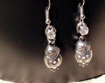 Owl Drop Earrings