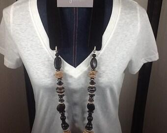 Black tribal necklace