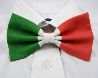 Italian Flag Bow Tie