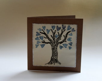Loveheart tree greetings card
