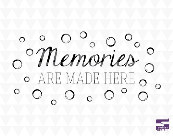 Memories Are Made Here   SVG, PDF, JPEG, Cricut Downloads, Bathroom Decor, Bathroom  Word Art From SteffanDesign On Etsy Studio