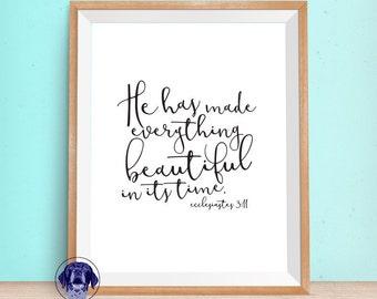 Ecclesiastes 3:11 Scripture Printable Wall Art