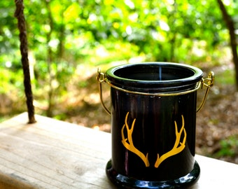 100% All Natural Soy Golden Antlers Candle