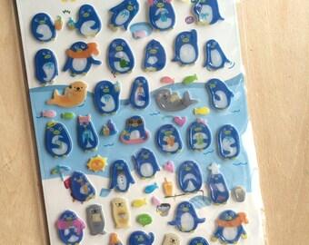 Funny Sticker - penguin PVC Deco sticker