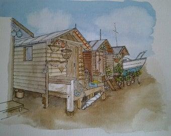 Beach Huts at Old Felixstowe
