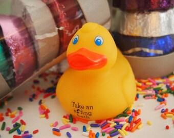 an effing yellow rubber duck take an effing bath toy bath fun