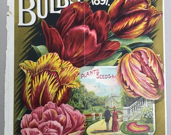 Vintage ORIGINAL Seed Catalogue Cover from 1891