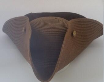 Wicker Tricorn Hat