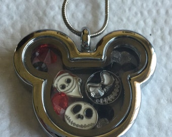 Jack Skeleton Locket Necklace