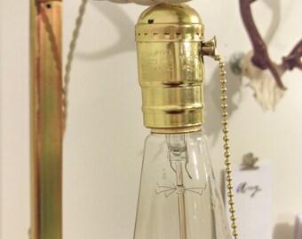 Hangable plug in lamp