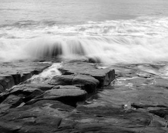 Noosa, Landscape Photography, Black and White Landscape Photography, Photographic Art, Home Decor, Wall Art, Beach Art, Sea, Water,