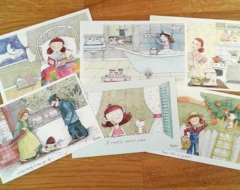 6 Postcard set