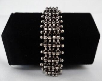 Vintage Oxidized Silver Bracelet