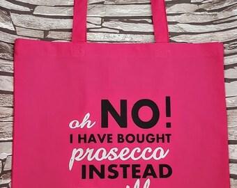Prosecco Tote, Prosecco Gift Idea, Shopping Bag, Cotton bag, Eco tote bag, 100% Cotton, Quote Bag, Cotton tote, Tote bag, Cotton Shopper,
