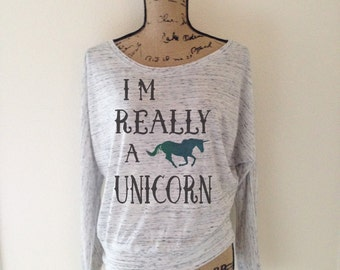 I'm Really A Unicorn T-Shirt - Unicorn Shirt - Unicorn Birthday - Unicorn Tee - Unicorns - Unicorn Party - Unicorn Tank Top - Horse Shirt