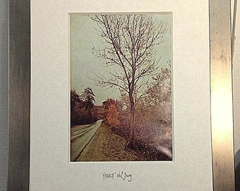 Original 'Harvest' Artwork, Neil Young - Framed Picture