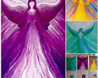 Healing Angel Art Greeting cards pack of 3