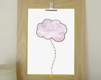 Dream 1 - art print from original watercolor and ink illustration