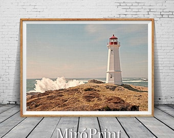 Lighthouse Wall Decor, Lighthouse Print, Coastal Decor, Beach House Print, Colour Photography, Coastal Print, Beach Wall Art, Beach Art