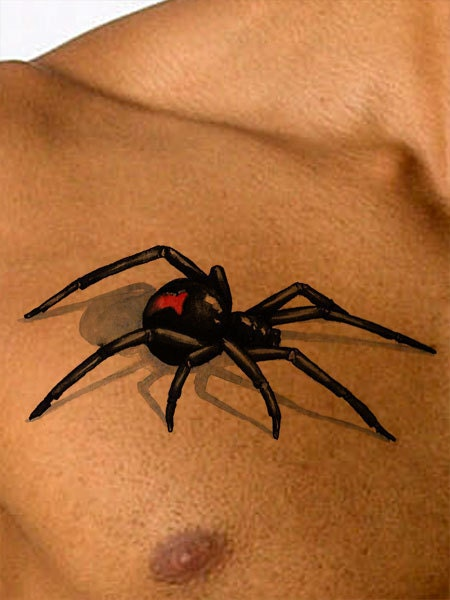 Temporary tattoo black widow spider tattoo gifts for for Black widow spider tattoo