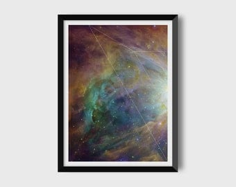 Carl Sagan / Space Art / Astronomy Art / Digital Download / Digital Print / Instant Download / Printable Art / Geometric Print / 12x16 in