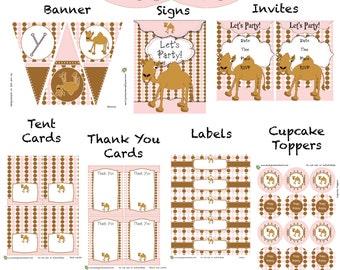 Camel Party Printable Set