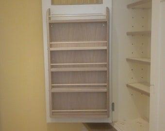 Kitchen cabinet door-back shelf unit, oak