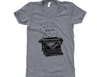 Typewriter T-Shirt -  Ladies SOFT T-Shirt - Available in sizes S, M, L, XL
