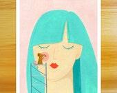 SALE!! Blushing 8x10 Art Print