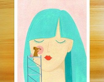 Blushing 8x10 Print