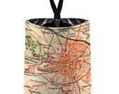 Car Trash Bag (Dublin Ireland) // Auto Trash Bag // Car Accessories // Car Litter Bag // Car Garbage Bag - Road Map // Car Organizer Street