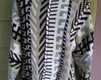 Vintage 80s Tribal Sweater Size M
